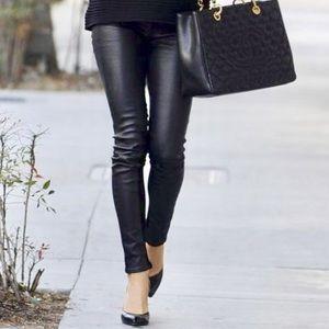 Rag & Bone Black Genuine Leather Skinny Pants